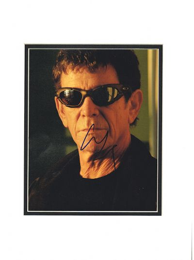 Lou Reed Autograph Signed Photo - Velvet Underground